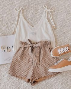 Trendy Summer Outfits, Cute Comfy Outfits, Girly Outfits, Pretty Outfits, Spring Outfits, Beautiful Outfits, Girls Fashion Clothes, Teen Fashion Outfits, Look Fashion