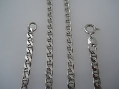 Sterling Silver 925 Mariner Link Necklace 24in 3mm by Replays