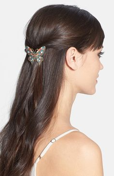 L. Erickson 'Marbella' Butterfly Barrette available at #Nordstrom