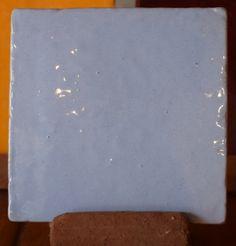 Carreau émaillé Bleu Parme