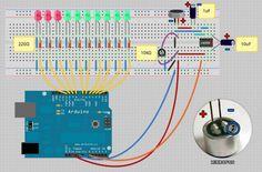 """Dziś pragnę wam przedstawić poradnik na bardzo prosty wskaźnik wysterowania """"VU Meter"""" oparty na Arduino. Czemu akurat Arduino a nie prosty schemat oparty..."""