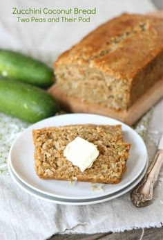 Zucchini Coconut Bread from www.twopeasandtheirpod.com #recipe