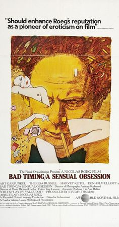 Directed by Nicolas Roeg.  With Art Garfunkel, Theresa Russell, Harvey Keitel, Denholm Elliott. A psychiatrist living in Vienna enters a torrid relationship with a married woman. When she ends up in the hospital from an overdose, an inspector becomes set on discovering the demise of their affair.