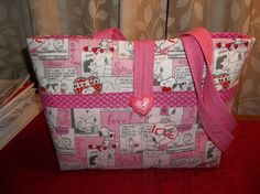 Peanuts Valentine Purse Handmade NEW Pink Hearts Comic Strip Shoulder Bag #Handmade #TotesShoppers