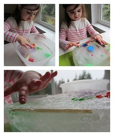 Iceberg freeze and find out - Simple Science for kids.