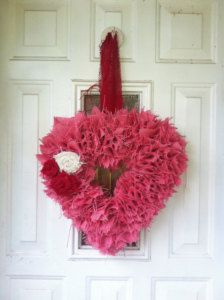 Wreaths in Valentine's Day Decor  pink burlap just for Camille