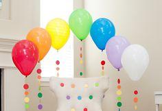 #Rainbow Balloon Tassels