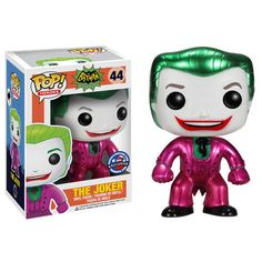 funko pop joker | Funko Pop Classic 1966 Metallic Joker Toymatrix.com Exclusive ...