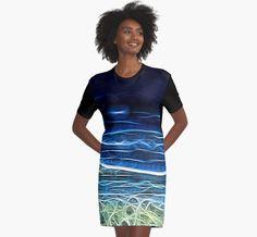 Electric Sea Graphic T Shirt Dress