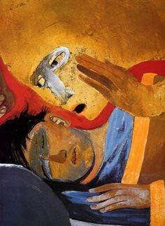 by Arcabas (French) ~ Religious Images, Religious Icons, Religious Art, Jesus Pictures, Art Pictures, Bible Illustrations, Jesus Painting, Egypt Art, Spirited Art