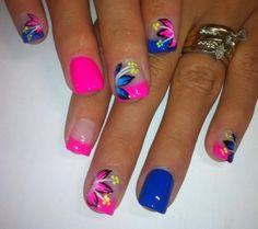 Beautiful Photo Nail Art: 36 Bright nail designs