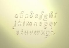 Typography inspired by water, jelly and other thing like them