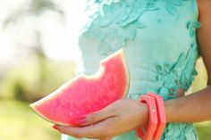 watermelon ~ The Cherry Blossom Girl Cherry Blossom Girl, Fashion Mode, Wonderful Things, Beautiful Things, Mediterranean Style, Pretty Pastel, Fruit Salad, Pink Blue, Girly