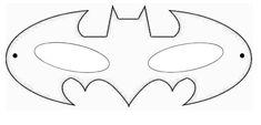 Batman Maske als Schablone