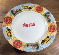 COCA-COLA-Gibson-Good-Ole-Days-Dishes-Truck-and-General-Store-Dinner-Plate-11 Coca Cola Kitchen, Always Coca Cola, Popular Drinks, Cold Ice, Good Ole, General Store, Cookie Jars, Coke, Dinner Plates