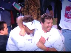 Alabama Offensive Coordinator Lane Kiffin and Defensive Coordinator Kirby Smart. Kirby is the new head coach of UGA in 2016. The two helped Alabama win its 16th National Championship! ~ Check this out too ~ RollTideWarEagle.com sports stories that inform and entertain and Train Deck to learn the rules of the game you love. #Collegefootball Let us know what you think. #Alabama #RollTide