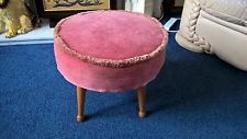 a beautiful pink foot stool