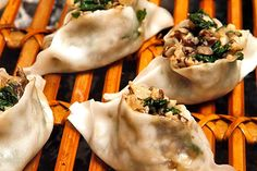White lotus dumplings vegan