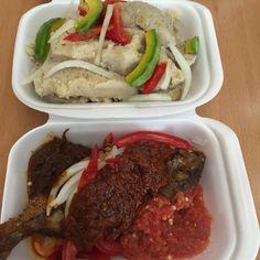 Kenkey + Avocado + Fish. #Ghana #Food