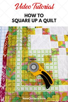 Squaring Up a Quilt Top Learn how to square up the quilt layers so your quilt will look right after binding. Video tutorial by The Crafty Gemini. Quilting For Beginners, Sewing Projects For Beginners, Quilting Tips, Quilting Tutorials, Machine Quilting, Beginner Quilting, Quilting Rulers, Modern Quilting, Baby Quilt Tutorials
