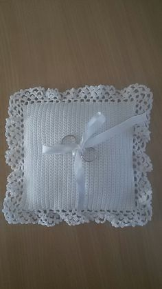 Cuscino Portafedi Uncinetto Schemi Stellina Pinterest Crochet