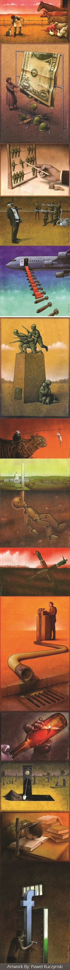 14 Brilliant And Satirical Drawings That Question The World We Live In (By Pawel Kuczynski)