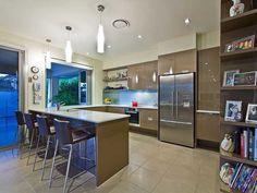 kitchens image: down lighting, side-by-side fridge - 1547565