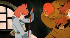 Nausicaa and the Valley of the Wind - Hayao Miyazaki (Studio Ghibli) Art Studio Ghibli, Studio Ghibli Movies, Animation Reference, Art Reference, Animation News, Hayao Miyazaki, Nausicaa, Character Art, Character Design