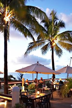 The alfresco restaurant, Hemingway's, is positioned above beautiful Grace Bay Beach. #Jetsetter Sands at Grace Bay (Providenciales, Turks & Caicos)