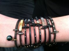 Seeing all of these Pat Flynn nail bracelets layered together makes us want them ALL!