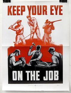 Image result for vintage workplace safety messages