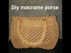 Macrame Thread, Macrame Purse, Macrame Art, Macrame Projects, Macrame Knots, Macrame Patterns, Crochet Patterns, Macrame Youtube, Macrame Bracelet Tutorial