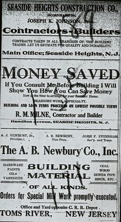 Newspaper Article: SEASIDE HEGHTS, N.J.. FRIDAY JANUARY 8, 1915 SEASIDE HEIGHTS Interesting Items Picked up in Borough about thePeople You Know. - Mr. Daniel J. Klee of West Philadelphia, visited his cottage on Sunday. - Mr. Alfred Hiering spent the…