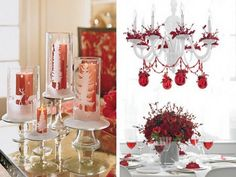 simple christmas table decoration ideas - Google Search