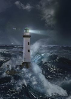lighthouses in a storm - Google Search