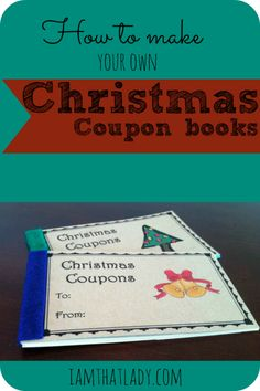 Looking for a fun stocking stuffer for your kids?  Here is a way to bring a lot of joy into Christmas and not pay a ton of money! Make your kids their own Christmas coupon book for a free date, control of the remote for a night, and many more fun things!