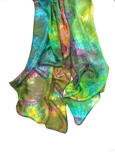 Silk Scarf, Silk Shawl, Wrap Scarf, Hand Dyed Scarf, Ecofashion/f78/  - Feltmondo