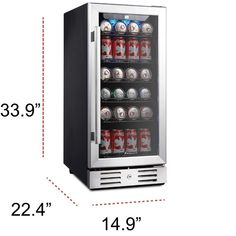 Kalamera 15 Beverage cooler 96 Can Built-In Single Zone Touch Control-KRC-90BV - The Home Depot Beverage Refrigerator, Compact Refrigerator, Wine Fridge, Interior Led Lights, Wine Collection, Black Cabinets, Adjustable Legs, Metal Shelves, Floor Space