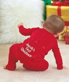 New! Your baby will love to cuddle up in comfy Personalized Infant Long Johns made just for them! Charming long johns are perfect for when they're taking a nap