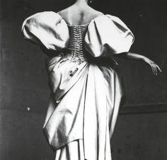 Christian Lacroix Duchesse Satin Dress, Paris, July 1995 Photographer- Irving Penn