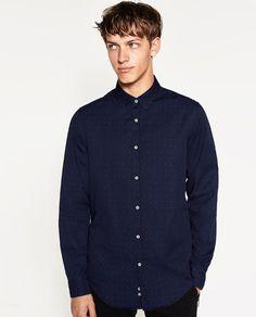 Image 2 of INDIGO SHIRT from Zara