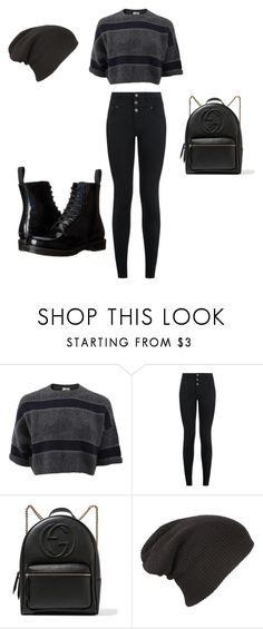 """""""♠️"""" by ilaria-durando ❤ liked on Polyvore featuring Brunello Cucinelli, New Look, Gucci and Dr. Martens"""