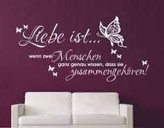 Simple Details zu Wandaufkleber Wandtattoo Wohnzimmer Schlafzimmer Aufkleber Liebe ist