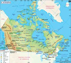 Map Of Canada With Capital Cities And Bodies Of Water Thats Easy - Political map of canada with cities