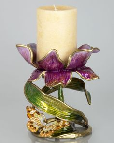 Shop Aimee Floral Pillar Candleholder from Jay Strongwater at Horchow, where you'll find new lower shipping on hundreds of home furnishings and gifts. Pillar Candle Holders, Pillar Candles, Modern Southwest Decor, Jay Strongwater, Accent Pieces, Decoration, Neiman Marcus, Swarovski Crystals, Jewelry Design