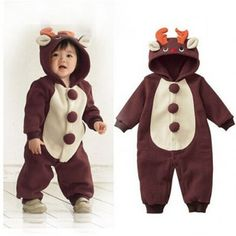 iOffer Baby Kids Reindeer Cosplay Costume Suit for sale  sc 1 st  Pinterest & Infants/Toddlers Reindeer Costume | Reindeer costume Infant toddler ...