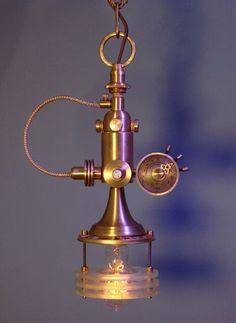Steampunk Pendant Lamp by Art Donovan