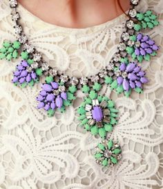 NECKLACE: http://www.glamzelle.com/collections/jewelry-necklaces/products/neon-resin-mint-purple-flowers-necklace