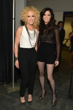 "Little Big Town's Kimberly Roads Schlapman and Karen Fairchild backstage at ""The GRAMMY Nominations Concert Live!! — Countdown To Music's Biggest Night"" on Dec. 5 in Nashville #TheWorldIsListening    Photo: Larry Busacca / WireImage.com"