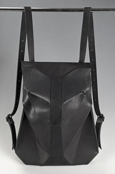 c04663b31df Black Leather Backpack GEOS SCAPULA by OMTURA on Etsy Leather Backpack  Purse